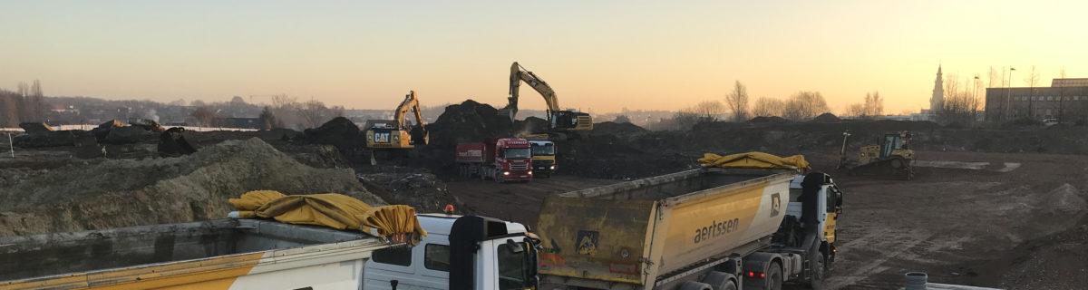 We hebben al 25.000 m³ stortafval afgevoerd en 20.000 m³ grondverzet gerealiseerd