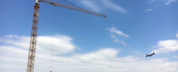 The first tower crane has been built!